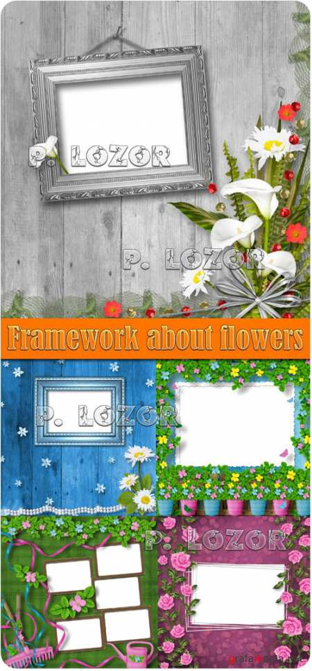 Framework about flowers