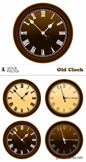 Stock Vector - Old Clock