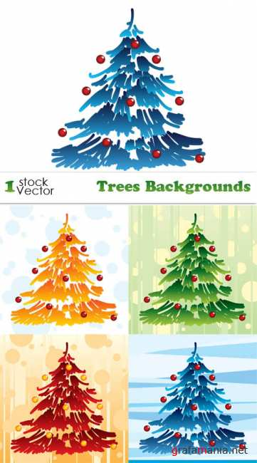 Stock Vector - Trees Backgrounds