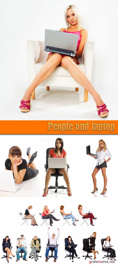 People and laptop
