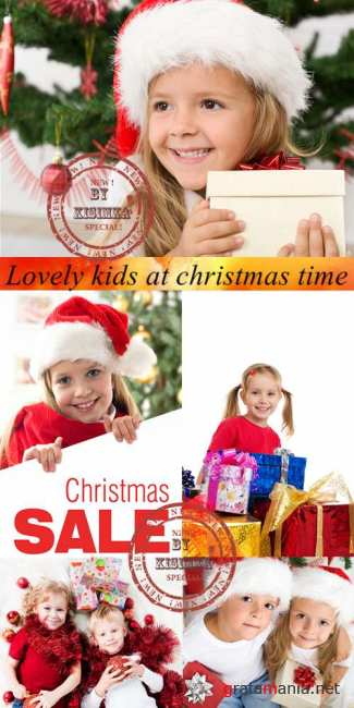 Stock Photo: Lovely kids at christmas time