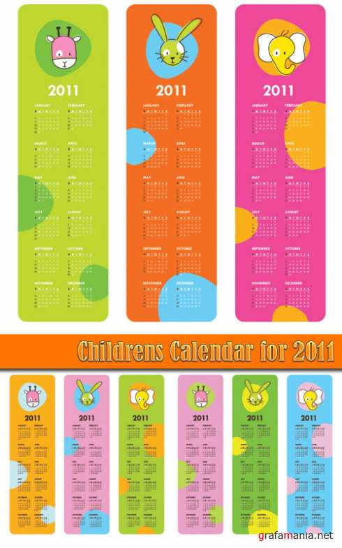 Childrens Calendar for 2011