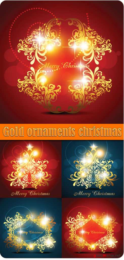 Gold ornaments christmas