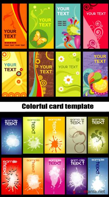 Colorful card template
