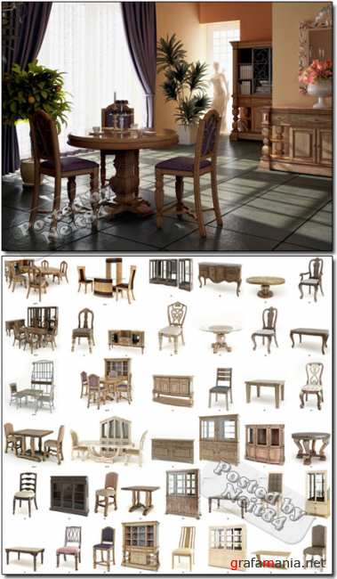 3D High detailed models of American furnitures