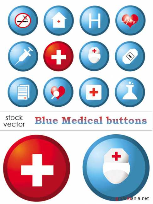 ��������� ������� - Blue Medical Buttons