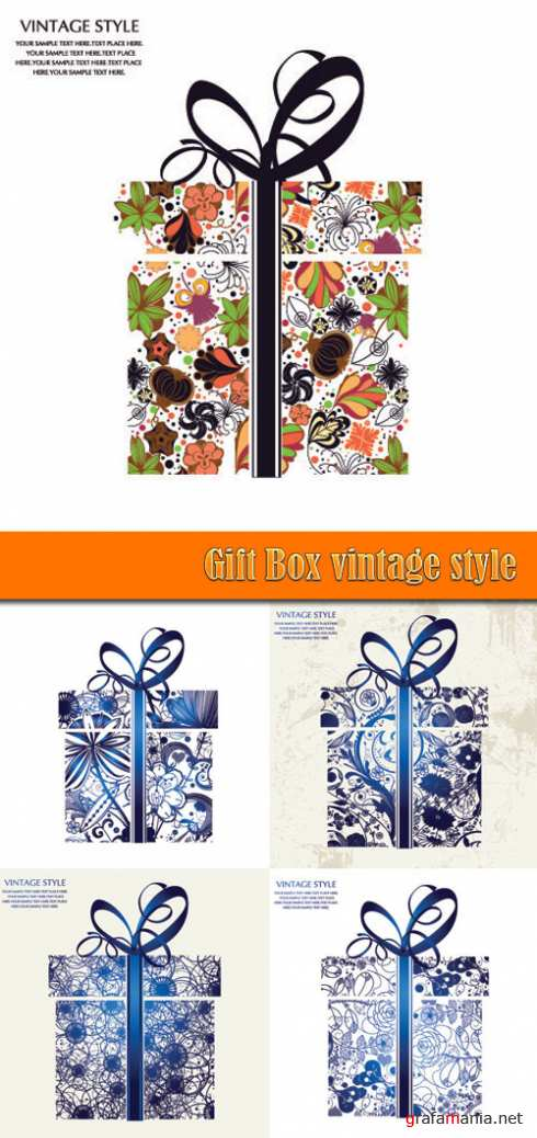 Gift Box vintage style