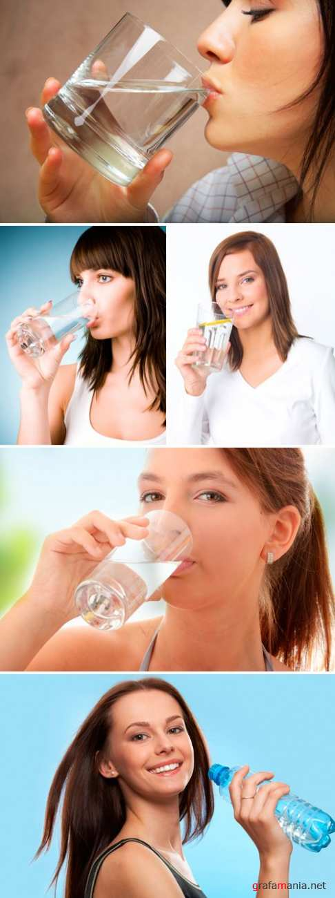 Stock Photo - Girl drinking water