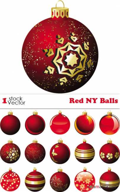 Red NY Balls Vector