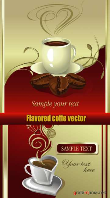 Flavored coffee vector
