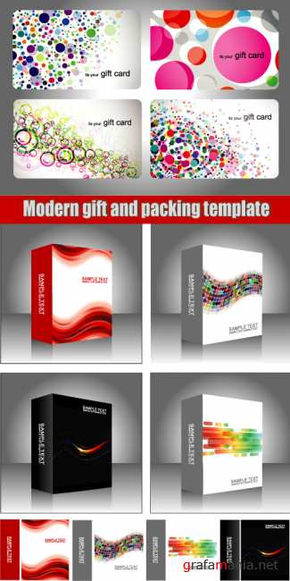 Modern gift and packing template
