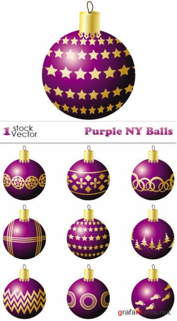 Purple NY Balls Vector