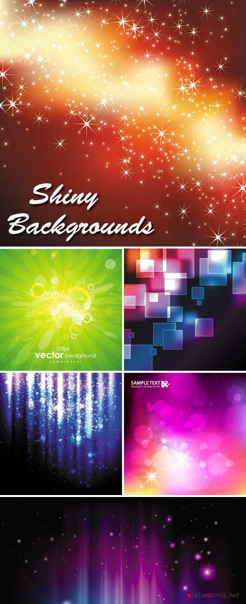 Shiny Backgrounds Vector