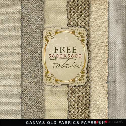 Фон – Canvas Old Fabric Paper Kit