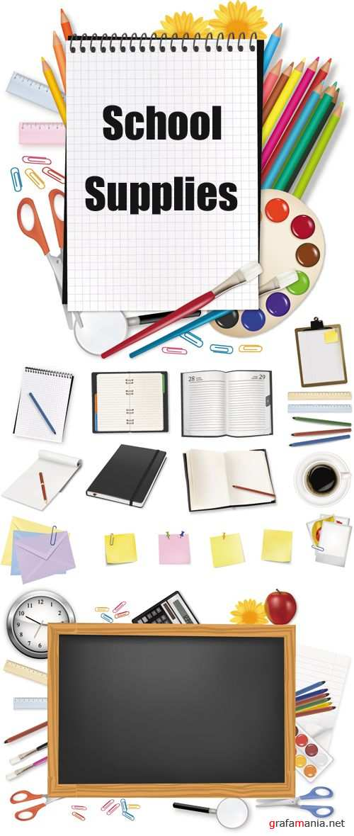 School Supplies Vector 2