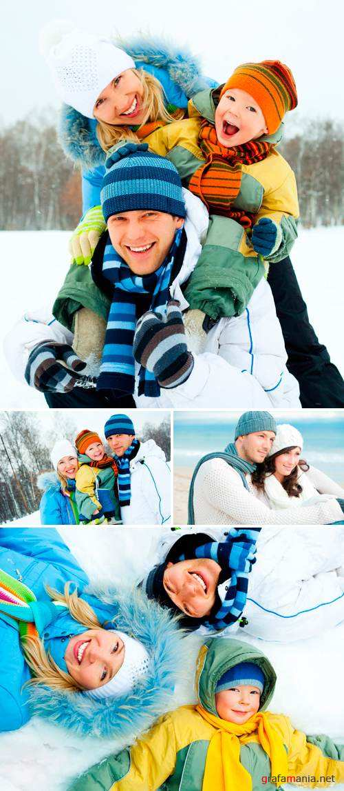 Stock Photo - Winter Family