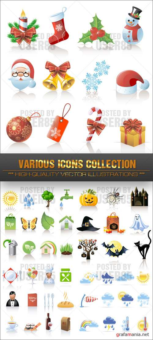 Stock Vector - Various Icons Collection