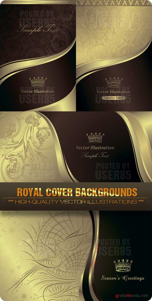 Stock Vector - Royal Cover Backgrounds
