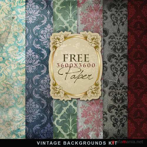 Textures - Vintage Backgrounds Kit