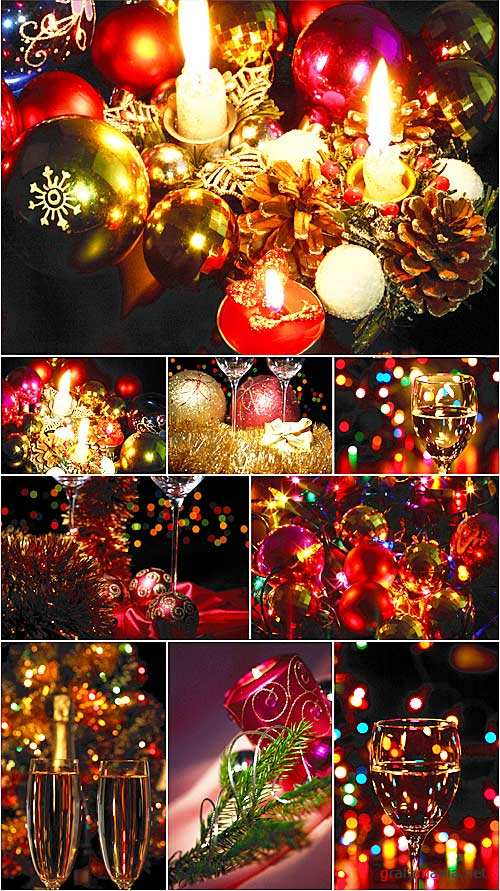 Stock Photo - Christmas lights