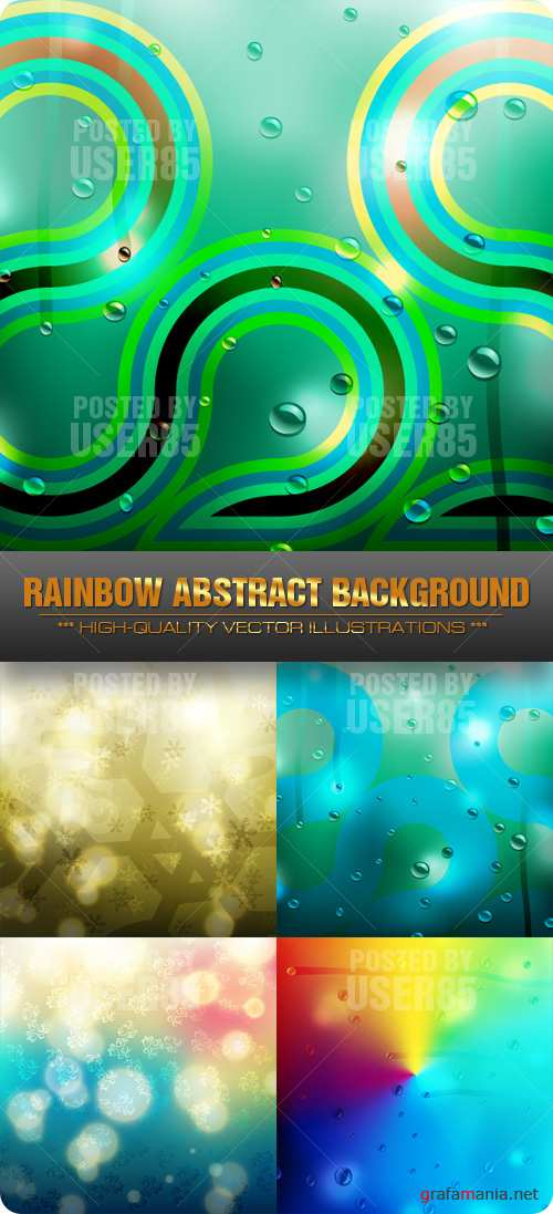 Stock Vector - Rainbow Abstract Background