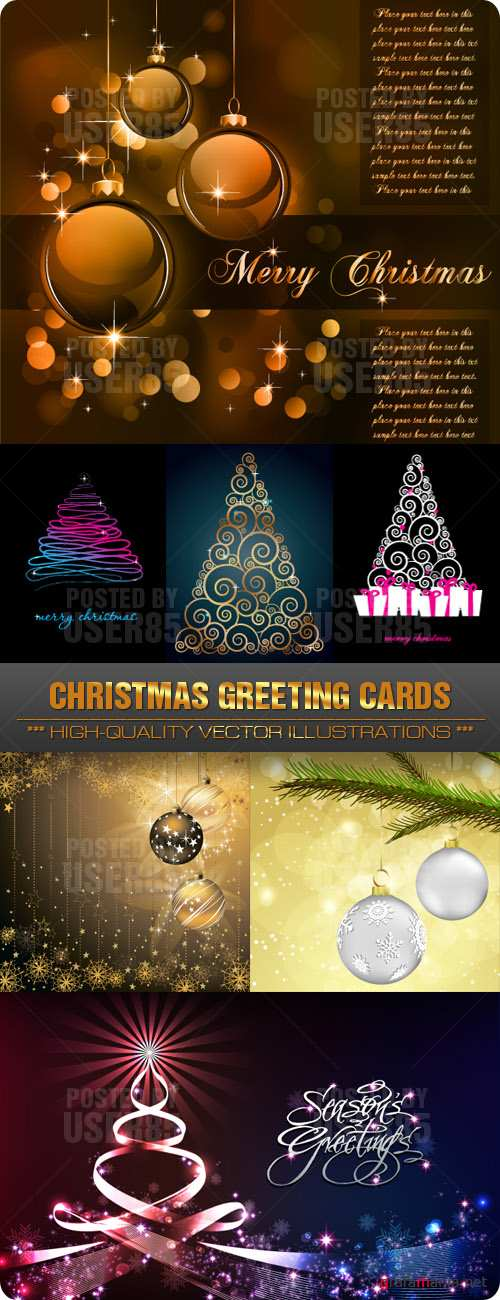 Stock Vector - Christmas Greeting Cards