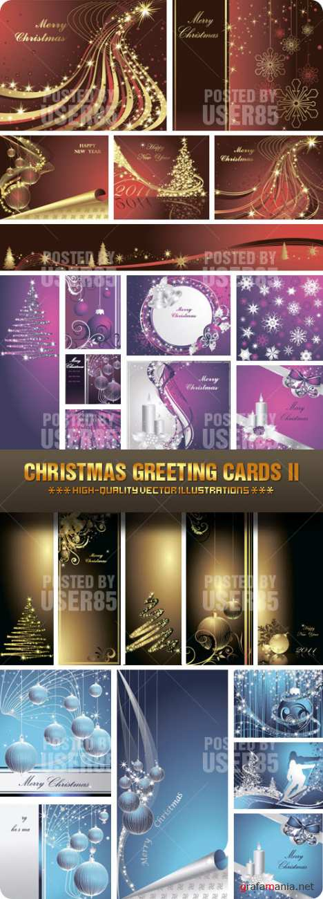 Stock Vector - Christmas Greeting Cards II