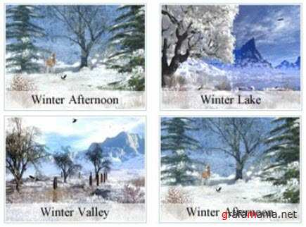 4 Beautiful Winter Screensavers