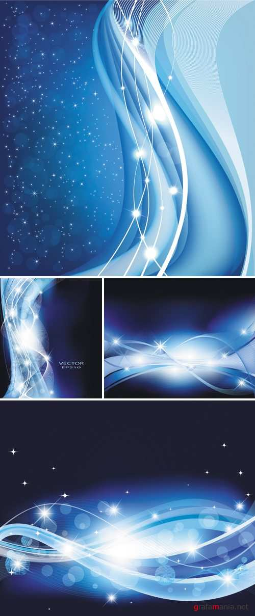 Blue Winter Backgrounds Vector