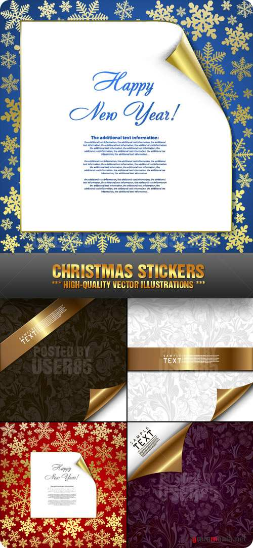 Stock Vector - Christmas Stickers