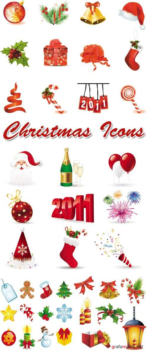 Christmas Icons Vector 3
