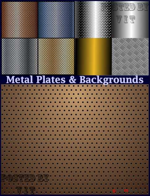 Metal Plates and Backgrounds 14