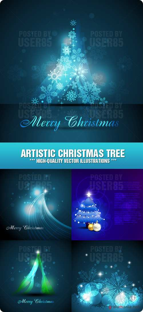 Stock Vector - Artistic Christmas Tree