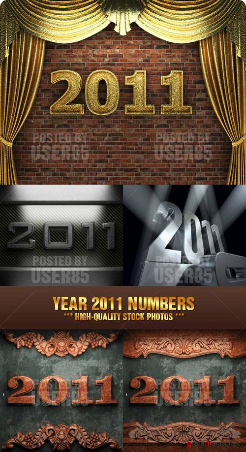 Stock Photo - Year 2011 Numbers