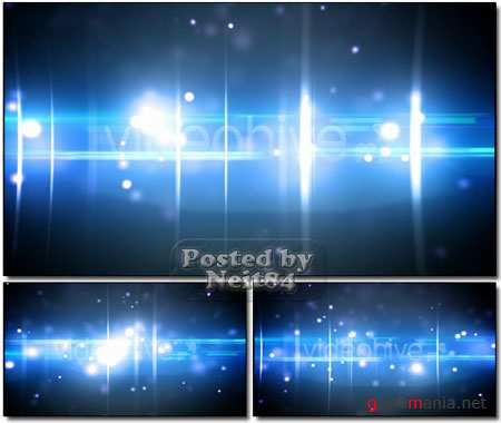 VideoHive motion Particles and optical flares blue loop