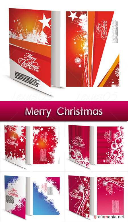 Christmas Greeting Cards II - Vector