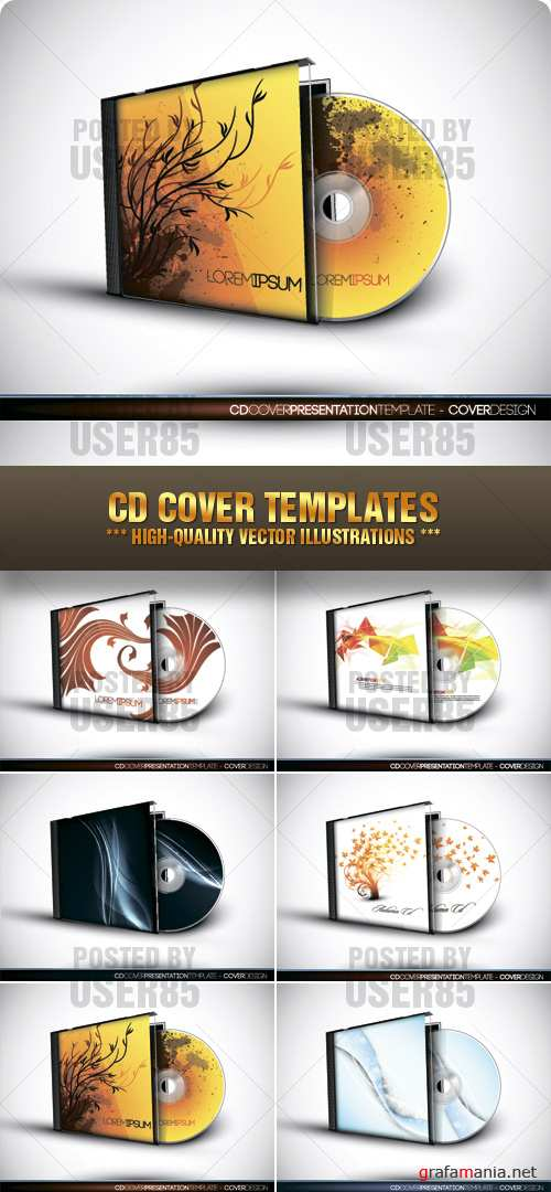 Stock Vector - CD Cover Templates