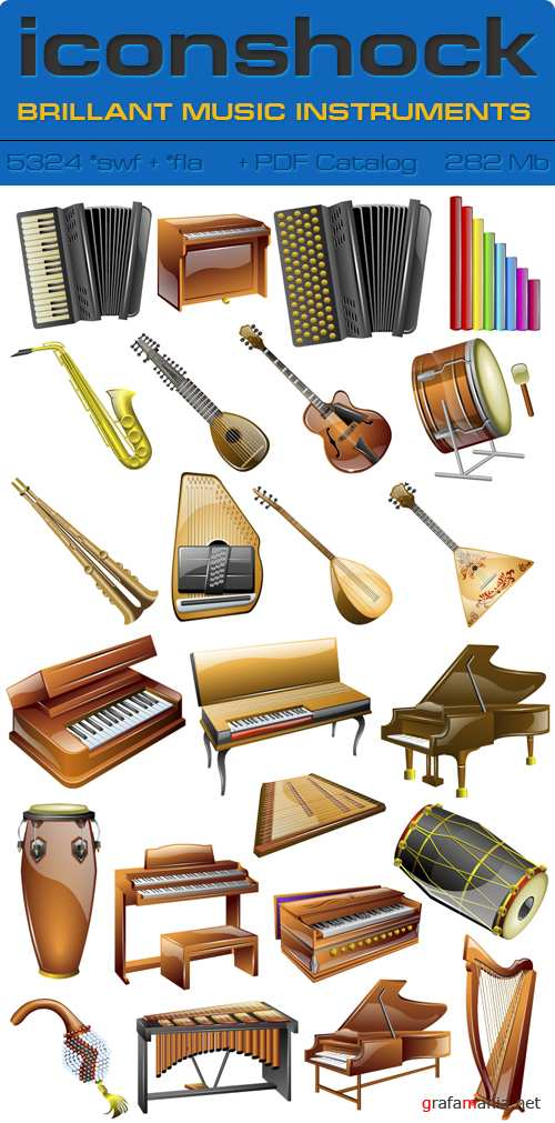 IconShok - Brillant Music Instruments Flash Sources