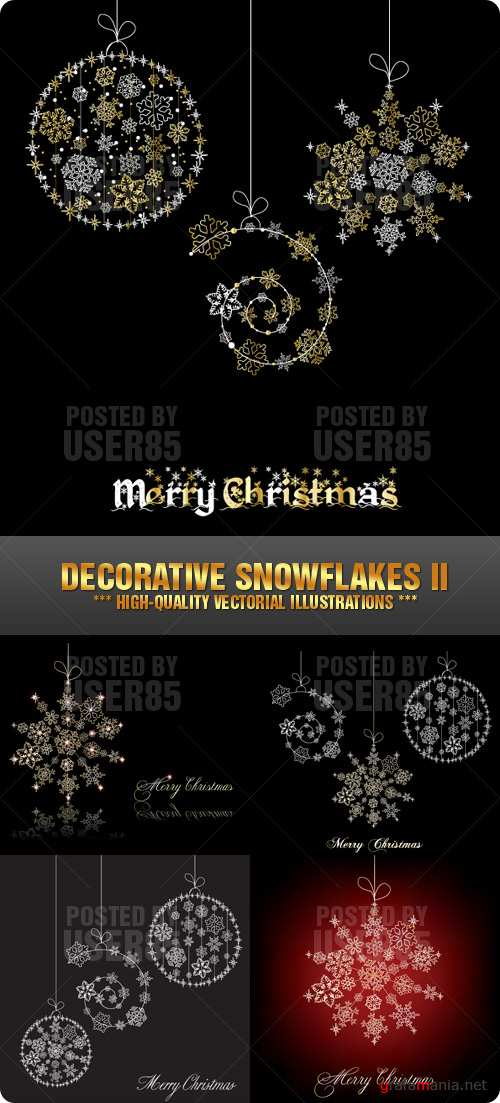 Stock Vector - Decorative Snowflakes II