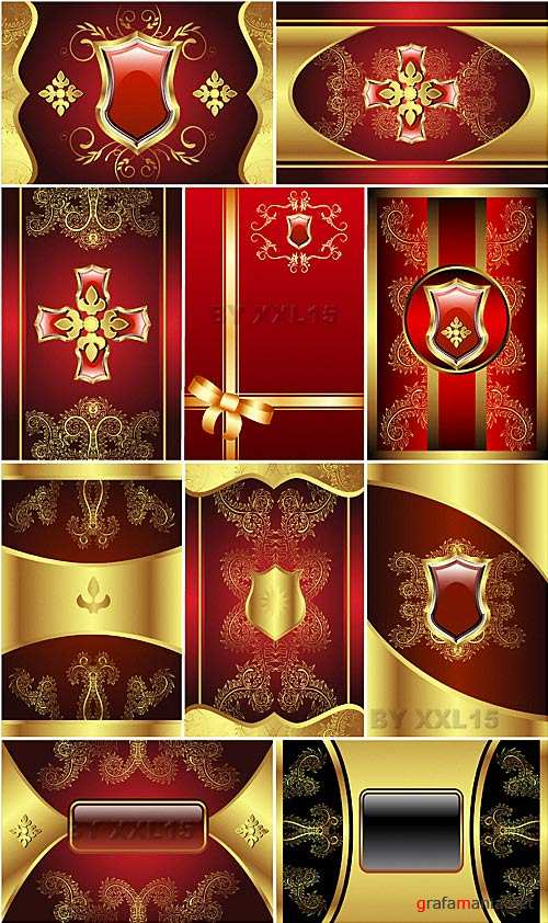Gold decorative backgrounds