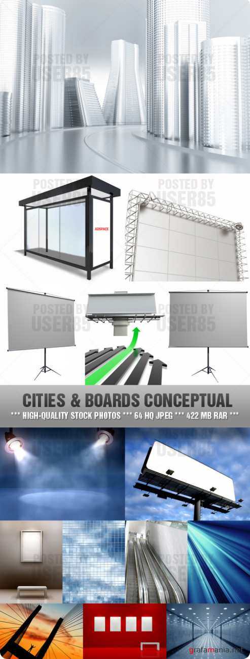 Stock Photo - Cities & Boards Conceptual