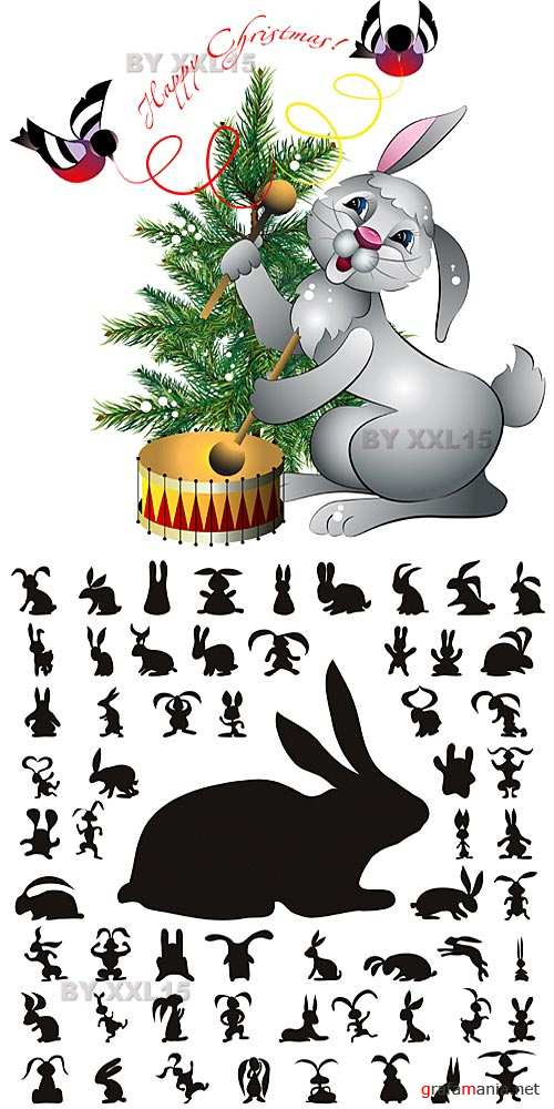 Rabbits vector 2