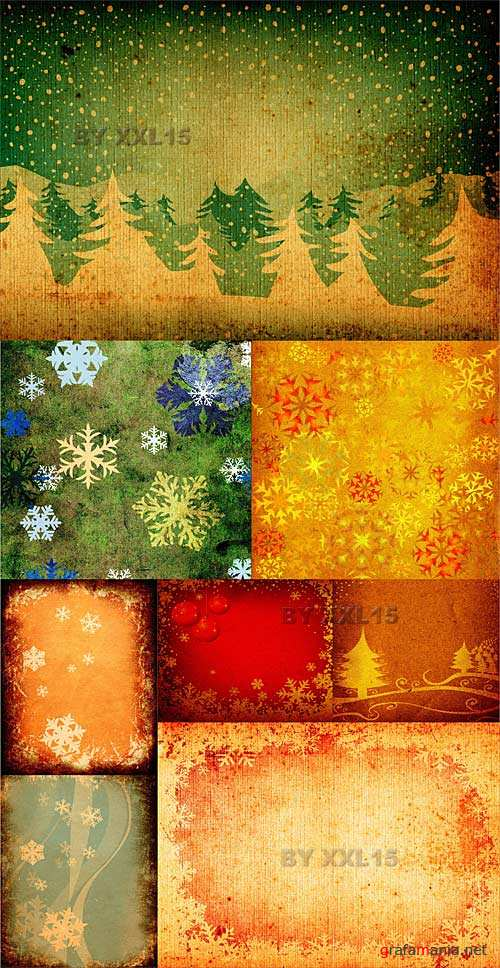 Vintage snowflakes backgrounds