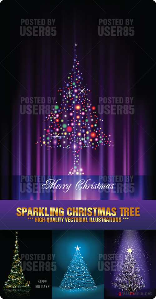 Stock Vector - Sparkling Christmas Tree