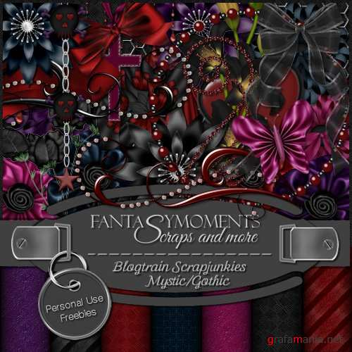 Скрап-набор - Fantasy moments: Blogtrain Mystic/Gothic