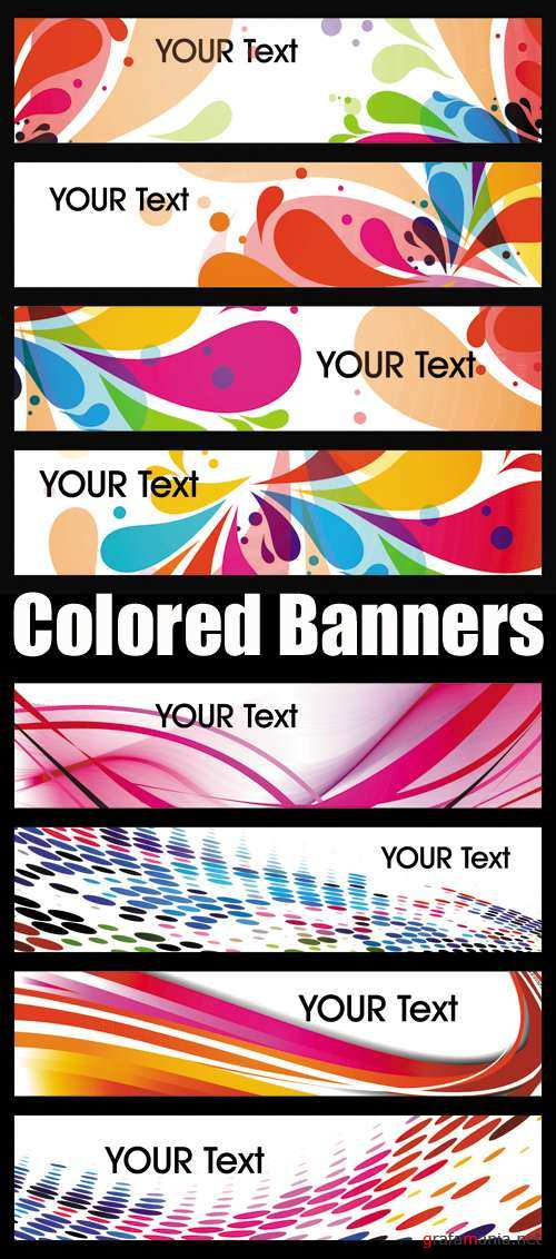 Colored Banners Vector