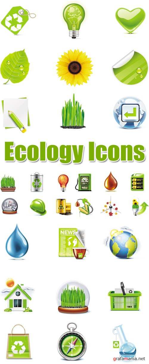 Ecology Icons Vector 2