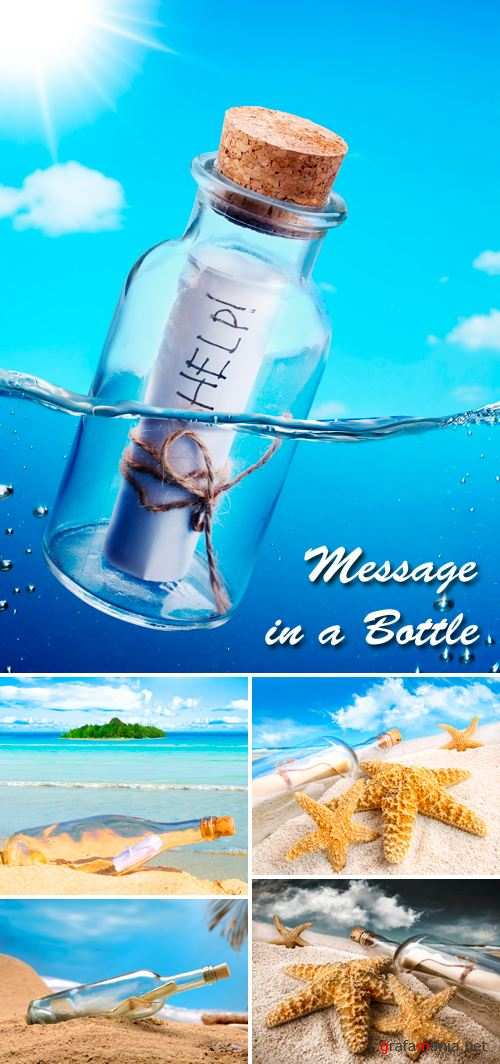 Stock Photo - Message in a Bottle