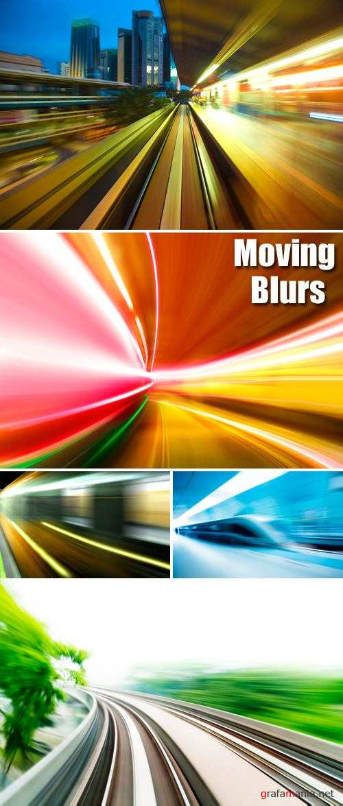 Stock Photo - Moving Blurs