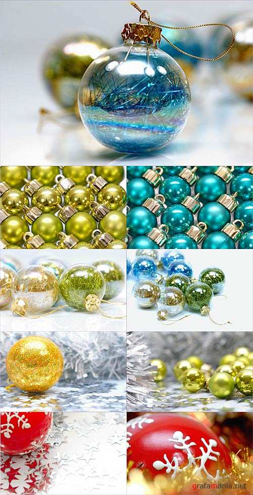 Stock Photo - New Year's balls